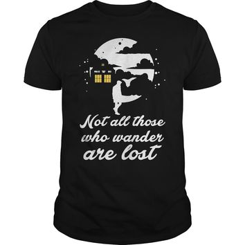 Whovian not all those who wander are lost shirt Premium Fitted Guys Tee