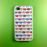 Iphone 4 Case - Cute Elephants Iphone 4s Case, Iphone Case