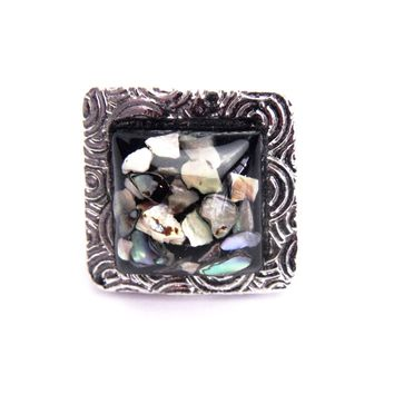 Mosaic Vintage Square Ring