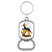 Keep calm and hunt bottle opener