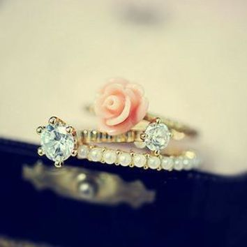 Stylish Jewelry Gift New Arrival Shiny Korean Pearls Accessory Ring [6586098055]