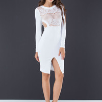 Lace The Test Cut-Out Midi Dress