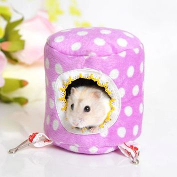 Hamster Cage Warm Bed Rat Hammock Squirrel Toys Pet Hamster Hedgehog House Hanging Nest Toy Hamsters Accessories Pet Supplies
