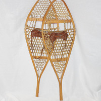 Vintage Pair of Canadian Snowshoes  size 43 X 14, Snow Shoe, Cabin Decor