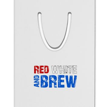 Red White and Brew Color Aluminum Paper Clip Bookmark by TooLoud