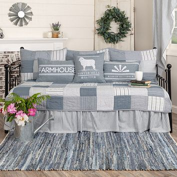 Sawyer Mill Blue Daybed Quilt Set