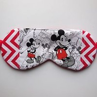 Ladies Sleep Mask Mickey Mouse Eye Night Shade Blindfold Nap Fleece Disney Soft