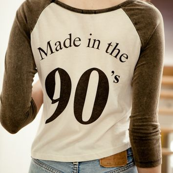 CANDACE MADE IN THE 90'S RAGLAN TOP