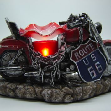 Motorcycle Table Fragrance Aroma Lamp Oil Diffuser Wax Tart Candle Warmer Burner Home Decor