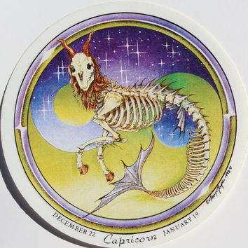 Grateful Dead Capricorn Zodiac Vintage Sticker