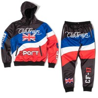 ClubForeign Sport Suit Three Color Set Hoodie and Pants Britain