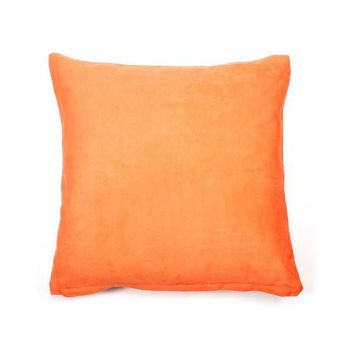 """Solid Soft Suede Nap Throw Pillow Cover without Pillow Square Decorative Cushion Cover for Teen Girl's Room/ Nursery/ Baby/ Wedding, 18"""" x"""