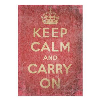 Vintage Keep Calm And Carry Posters from Zazzle.com