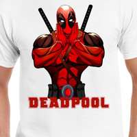 Deadpool Wade Wilson T-Shirt Marvel Comics Deadpool Funny Pose Merc With A Mouth Shirt