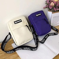 Supreme Stylish Women Men Canvas Zipper Sport Single-Shoulder Bag(4-Color) I-A30-XBSJ
