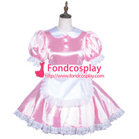 lockable Sissy maid pink Satin dress cosplay costume Tailor-made[G3839] [G3839] - $110.42 : Fond Cosplay