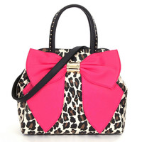 Betsey Johnson Oh Bow Leopard Bag BJ53605