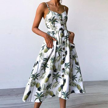 Women Pineapple  Dress