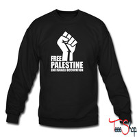 Free Palestine End Israeli Occupation crewneck sweatshirt