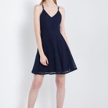 Mell Lace Fit and Flare Dress