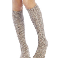 Marled Knit Knee-High Socks | Wet Seal