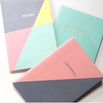 Triangle Pocket Journals Set of 3