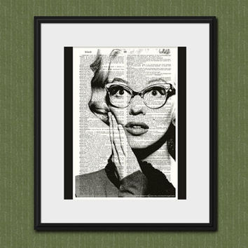 MARILYN MONROE ART Vintage Dictionary Art Print Marilyn Monroe Poster Wall Art Home Decor Marilyn Monroe Photo Marilyn Monroe Portrait