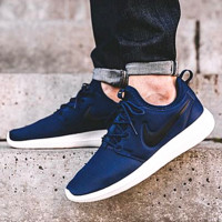 NIKE ROSHE TWO Women Casual Running Sport Sneakers Shoes Dark blue