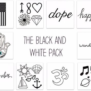 Black & White Pack