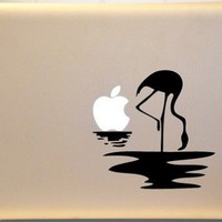 Apple Sunset with Flamingo Macbook Decal Vinyl Sticker for Mac Laptop
