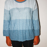 Vintage Blue Ombre sweater