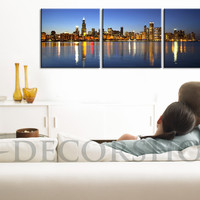 LARGE Wall Art Canvas Print Chicago   Large Canvas Printing for Home Decor