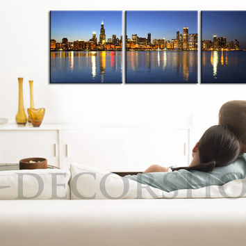 LARGE Wall Art Canvas Print Chicago | Large Canvas Printing for Home Decor