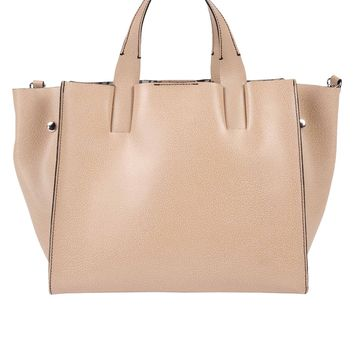 Pietro Alessandro Structured Leather Tote