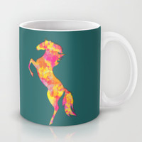 Fire Horse Silhouette Mug by eDrawings38 | Society6