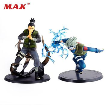 Naruto Sasauke ninja 2pcs/set anime figure  Nara Shikamaru and Hatake Kakashi PVC 16cm figurine Japanese toys for children kids AT_81_8