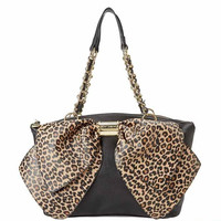 Leopard/Black Betsey Johnson Handbag