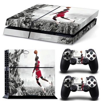 Jordan Style Protective Vinyl Skin Stickers for Playstation 4 PS4 console and 2 controller