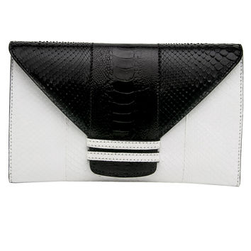 White and Black Python Connor 28 Clutch