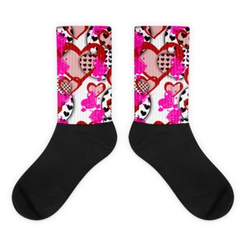 Valentine Socks - Heart Socks - Valentines Day Sock - Themed Sock - Valentines Gift - Birthday Gift