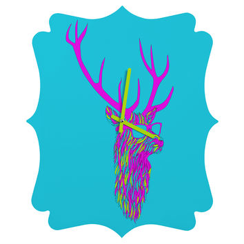 Robert Farkas Party Deer Quatrefoil Clock