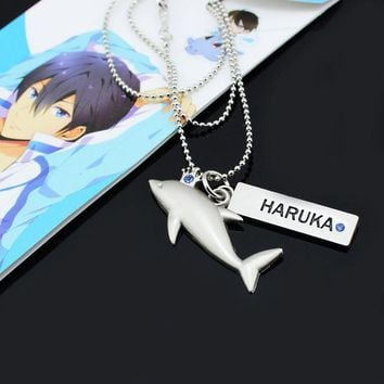 Iwatobi Swim Club Haruka Dolphin Crown Necklace Pendant