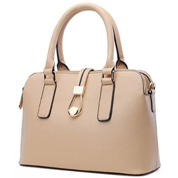 Women's Ladies Fashion Simple Shell Shaped Shoulder Bag Handbag Tote