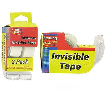 Invisible Tape with Dispensers ( Case of 72 )