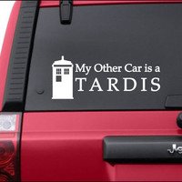 """My Other Car is a Tardis Vinyl Decal Sticker 10"""" x 4"""""""