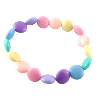 Fairy Kei Pastel Smarties Style Fake Candy Stretchy Bracelet