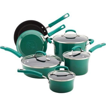 Rachael Ray 10-pc. Porcelain Nonstick Cookware Set