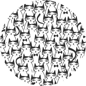 Cats Cats Cats Circle Wall Decal