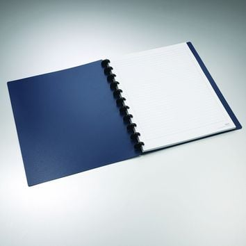 "Staples Arc Customizable Durable Poly Notebook System, Navy, 11"" x 8.5"""