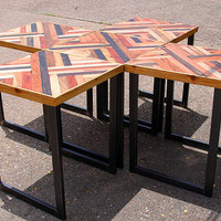 Individual Reclaimed Wood Modular Tables